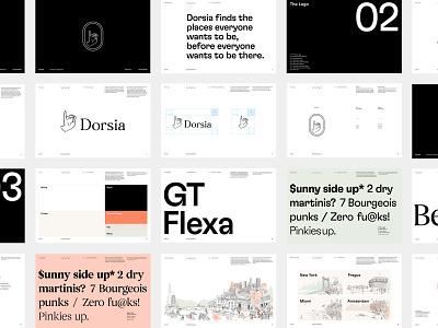 Dorsia - Brand Guidelines guidelines design system illustration typography travel app logo brand strategy branding brand identity brand