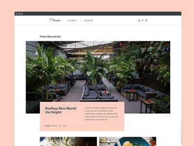 Dorsia Website art direction ui design website brand brand identity branding