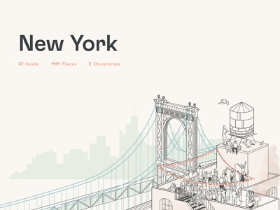 Dorsia Illustrations — USA art direction brand assets travel app illustration branding brand