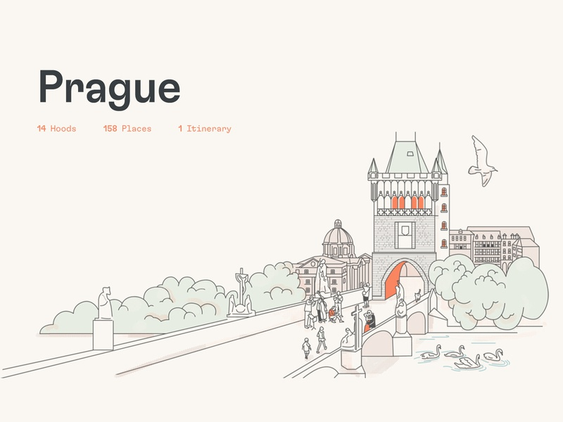 Dorsia Illustrations — Europe travel app art direction illustration branding brand