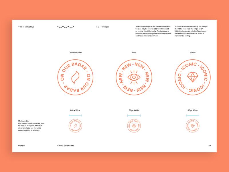 Dorsia Brand Guidelines design icon design system guidelines travel app branding brand identity brand