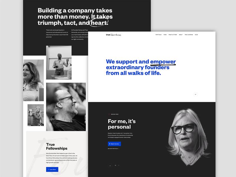 True Ventures Web venture capital videography photography development motion website web tech logo ui design system design art direction brand brand identity branding