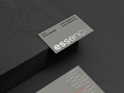 essence business card typography logo design system design brand brand identity branding