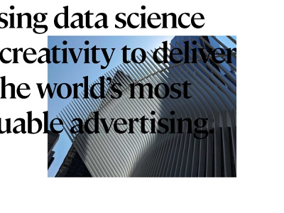 essence editorial data science advertising adtech photography typography design system design art direction brand brand identity branding