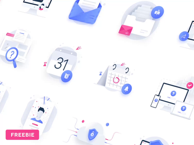 Web Essential Icons Vol 2: Digital Product empty state placeholders placeholder b2b saas digital product illustrations icons free icons freebie free