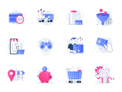 Essential Web Icons Volume 4: Eccomerce icon free illustrations icons seller sell buy checkout shipping product detail product catalog shopping cart cart shop store shopping