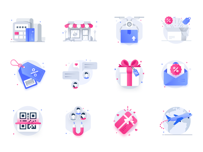 eccomerce shopping icons illustrations shopping cart cart checkout product catalog shop shopping eccomerce store
