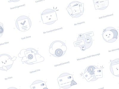 Empty state icons 404 no files empty page onboarding saas webapp saas app saas illustration placeholder icon empty state