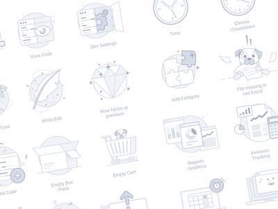 Empty State Icons Volume 2 icon illustration saas saas webapp onboarding placeholder empty state empty page no files 404