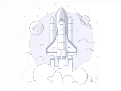 Empty States 2 product development saas shuttle rocket empty page illustration icon empty state