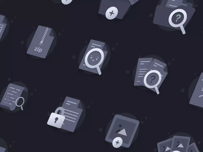 Dark Mode Empty State Placeholders dashboard product design saas product illustration icon empty page placeholder empty state