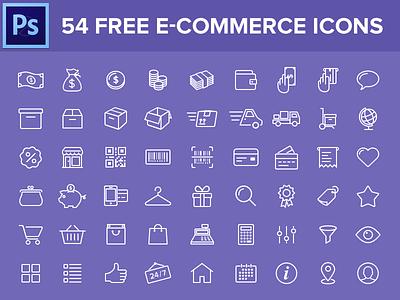 54 Free e-commerce icons icon set free freebie icons line icon ios8 icons e-commerce shop shopping mobile ios