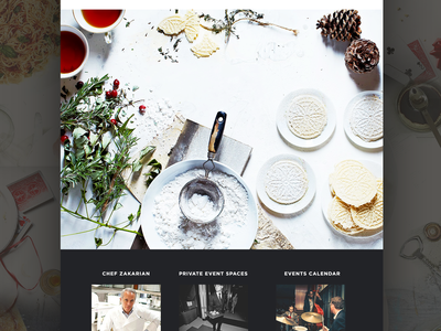 Multilayered Parallax interaction shop features landing product ui ux web homepage website