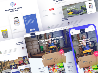 TheFeed - Food for athletes store cart checkout catalog product ux ui shopify shop e-commerce ecommerce website