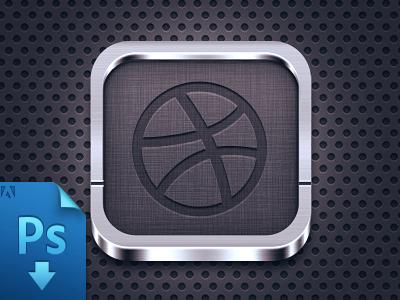 Icon template(PSD freebie) free freebie psd free psd ios icon iphone icon dark app shadow mobile metal