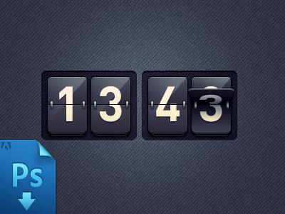 Clock (PSD freebie)