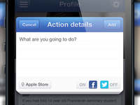 iPhone modal form