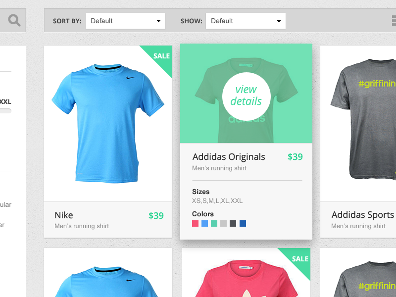 Product Catalog webdesign web page web design e-commerce product catalog website magento grid view products products grid shop ui animation interaction mobile ux interface