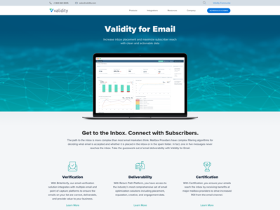 Validity for Email Marketing Product Page