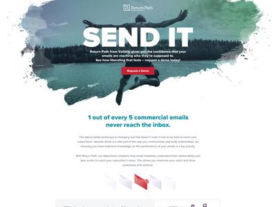"""""""Send It"""" Landing page comp"""