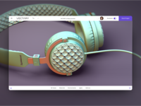 Headphones made with Vectary