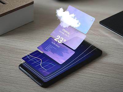 3D UI Maker for 2D Designers mockup interface ui design product design mobile ux ui design vectary render 3d