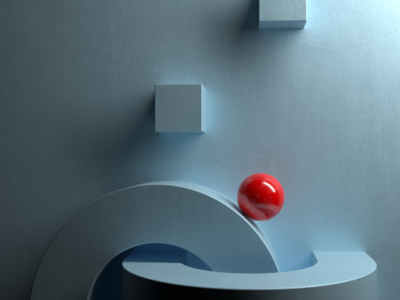 Red ball - 3D template