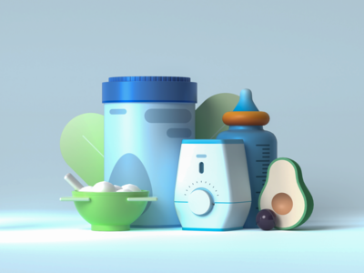 Baby Breakfast in 3D