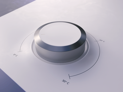 Thermo Dial in 3D | Tutorial degrees range photon vectary render thermostat dial slider thermo