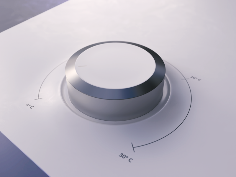 Thermo Dial in 3D   Tutorial degrees range photon vectary render thermostat dial slider thermo