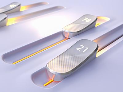 3D Sliders | Tutorial dof light render photon vectary product ui range slider 3d