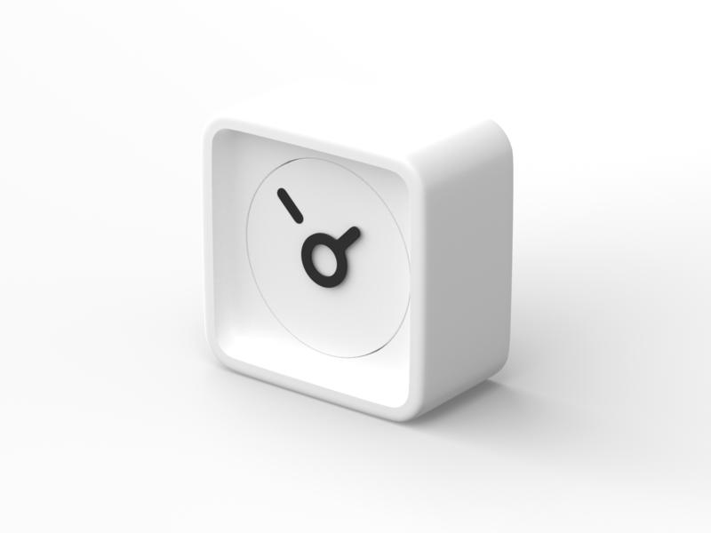 Analog 3D Clock vectary render 3d alarm clock time