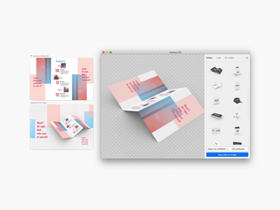 3D Brochure Mockup in Sketch and Figma brochure mockup brochure design brochure figma sketchapp branding mockup ui design vectary render 3d