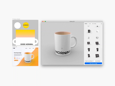 Mug mockup in 3D for Sketch and Figma sketchapp figmadesign figma mug mockup mug design branding mockup ui design vectary render 3d