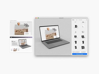 Macbook Pro 3D mockup sketchapp sketch figma webdesign mockup ui design vectary render 3d
