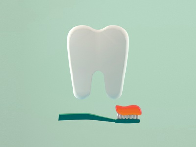 Uniform Teeth teeth vray branding greens toothpaste toothbrush tooth inspiration colors cinema4d illustration c4d 3d