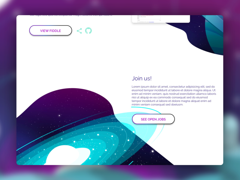 Labs concept space galaxy graphic web illustration