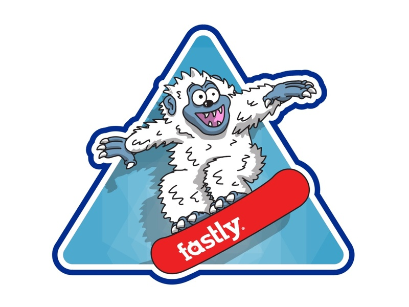 Snowboarding Yeti vector graphic illustration character red snow yeti snowboard