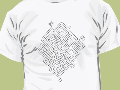 T-shirt pattern with Ancient Mizyn Culture Ornament       swastika mizyn culture ukraine folkart