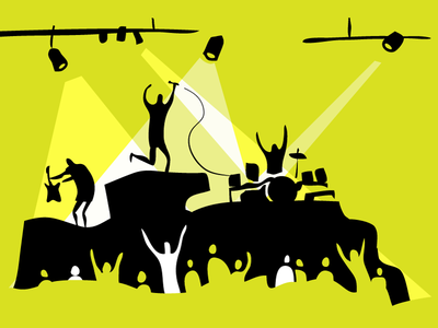 Illustration serie for Cultprostir Project illustration