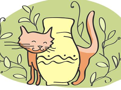 Cat naive illustration