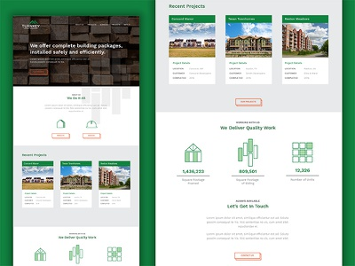 Turnkey Lumber :: Homepage contractors safety icons building projects lumber homepage ux ui web design web