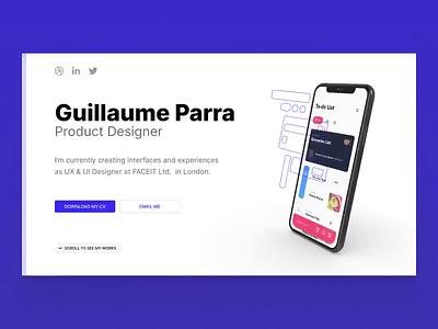 My New Portfolio website designer webflow product portfolio design motion ux ui