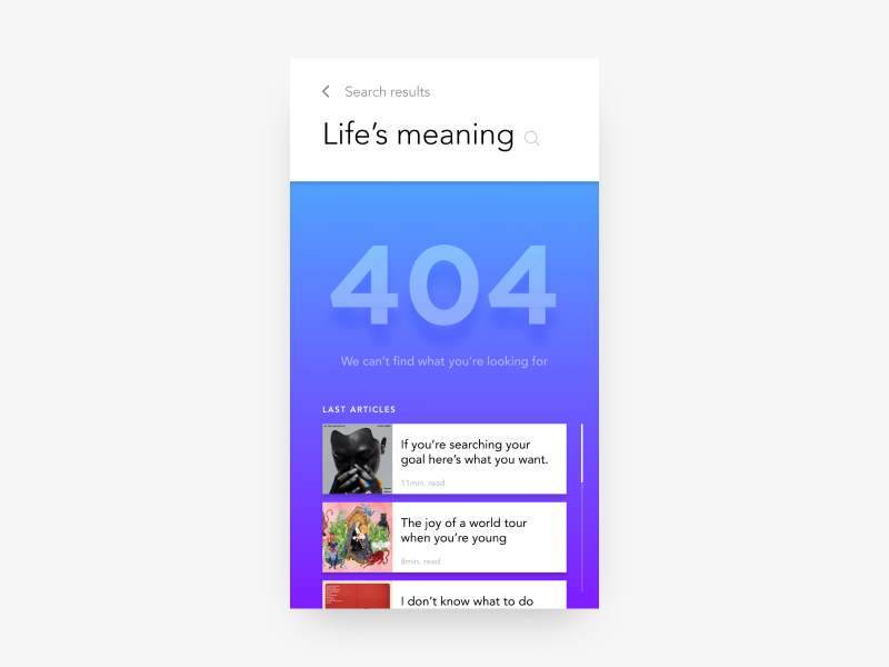 Daily UI Challenge #08 - 404 Page by Guillaume Parra