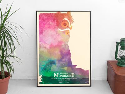 Free Mononoke Poster! illustration miyazaki ghibli a2 poster freebie mononoke princess