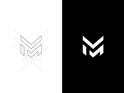 M Esport Logo army military rejected brand esport logo m