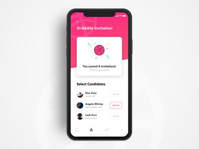 🏀 Dribbble Invitations x4 iphone ux ui ticket invitations invites giveaway invite invitation dribbble