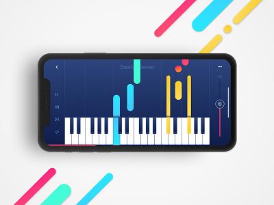 🎹 Piano Sheets Reader App tutorial daily concept ux ui x iphone app reader sheets piano