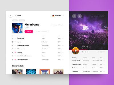 💿Music App Desktop playlist daily concept ratio golden app desktop music