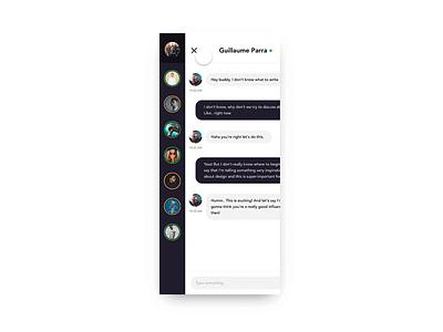 💬 Direct Messaging Menu w/ Studio studio prototype project menu swipe messaging motion invision app
